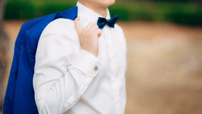 The bow tie. Close the frame Stock Photography