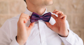 The bow tie. Close the frame Royalty Free Stock Photos