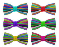 Bow tie with color rainbow strip. Royalty Free Stock Photography