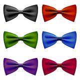 Bow tie colors vintage set Royalty Free Stock Photography