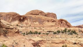 Bow Tie and Corona Arches. Bow Tie Arch and Corona Arch and surrounding landscape Royalty Free Stock Photos