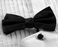 Bow tie and cuffs Royalty Free Stock Photos