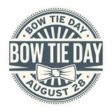 Bow Tie Day, August 28. Rubber stamp, vector Illustration Royalty Free Illustration