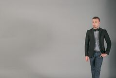bow-tie-fashion-man-person Stock Photography