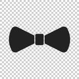 Bow tie flat icon. Necktie vector illustration Stock Photo