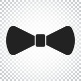 Bow tie flat icon. Necktie vector illustration. Simple business Royalty Free Stock Images