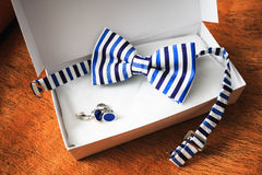 Bow tie in gift box Royalty Free Stock Photography