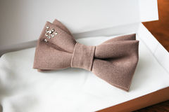 Bow tie in gift box. Colored bow tie in gift box Royalty Free Stock Photography