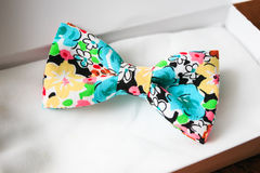 Bow tie in gift box. Colored bow tie in gift box Stock Photo