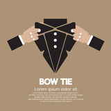 Bow Tie. Graphic Vector Illustration Royalty Free Stock Photos