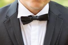 Bow tie. A groom with a bow tie Royalty Free Stock Photography