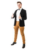 Bow tie guy approves Royalty Free Stock Photography
