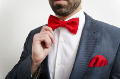 Bow tie and handkerchief Royalty Free Stock Photo