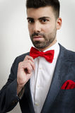 Bow tie and handkerchief Stock Photo