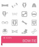 bow-tie icon set Royalty Free Stock Images