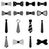 Bow tie icons set Royalty Free Stock Images