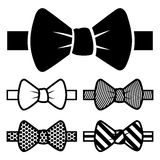Bow Tie Icons Set Royalty Free Stock Photos