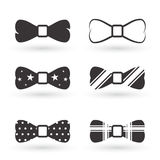 Bow tie icons. Set of isolated icons on a theme bow tie Royalty Free Stock Photo