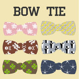 Bow tie. Illustration set of colorful bow tie in different colors Royalty Free Stock Photo