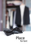 Bow tie invitation Stock Image