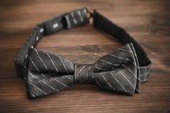 Bow tie. Italian silk bow tie in close up stock photos