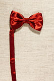 Bow tie on a linen napkin Royalty Free Stock Image