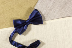 Bow tie on a linen napkin Royalty Free Stock Photography