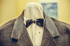 Bow tie on a mannequin Stock Photo