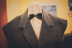 Bow tie on a mannequin Stock Images