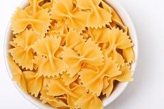 Bow tie pasta. Inside bowl Stock Photo