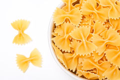 Bow tie pasta. Inside bowl Stock Images