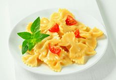 Bow tie pasta with cream sauce Royalty Free Stock Images