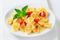 Bow tie pasta with cream sauce Stock Photography
