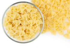 Bow tie pasta isolated on white background Stock Photography