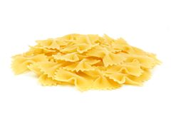 Bow tie pasta isolated on white Stock Photography