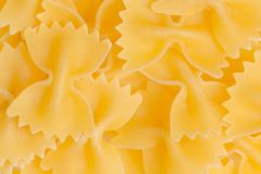 Bow tie pasta texture, farfalle tipical italian food Stock Photo