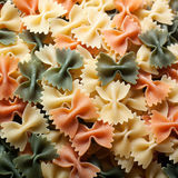Bow tie pasta with vegetables Stock Photos
