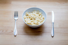 Bow-tie pasta Royalty Free Stock Image