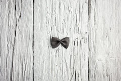 Bow tie pasta on wood Stock Photo
