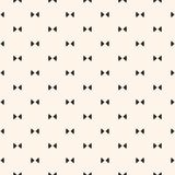 Bow tie pattern. Cute funky background. Bow tie pattern. Simple minimalist vector seamless texture with small triangles. Abstract monochrome geometric ornament royalty free illustration