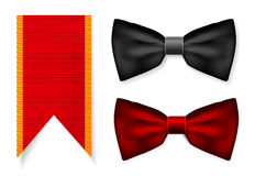 Bow tie and red ribbon Stock Photography