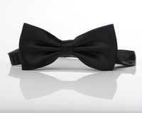 Bow tie with reflection. Black bow tie Stock Photo
