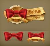 Bow tie, retro vector icons Royalty Free Stock Photos