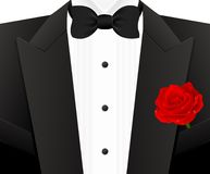 Bow tie with rose Royalty Free Stock Images