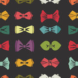 Bow tie seamless pattern. Cartoon colorful vector Royalty Free Stock Photos