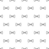 Bow tie seamless pattern. Fashion graphic background design. Modern stylish texture with bow-tie. Monochrome template. Can be used for prints, textiles Stock Photo