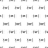Bow tie seamless pattern Stock Photo