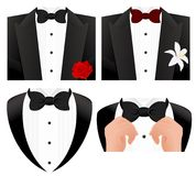 Bow tie set Royalty Free Stock Photos