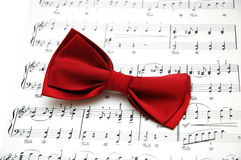 Bow tie on sheet Royalty Free Stock Image