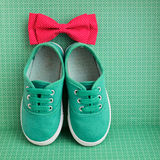 Bow tie and  sneakers Royalty Free Stock Photography